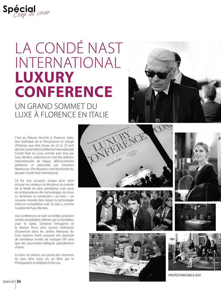 Conde Nast Luxury Conference 2015 Photos Emile Issa Special Magazine