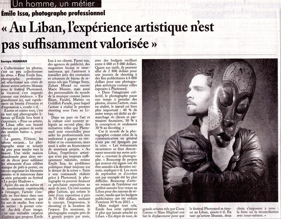 Interview l'Orient Le Jour