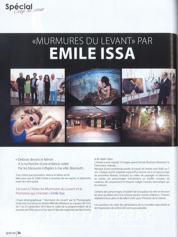 Murmures du Levant Expo Emile Issa SPECIAL Magazine