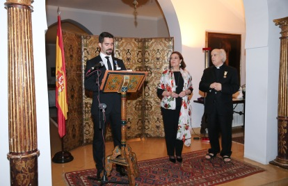 Decoration-Emile Issa-Emb Esp-21 Avril 2016-Officier de la Croix du Merit Civil- High-res-JPX_0228