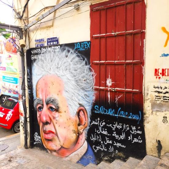 Poet Said Akl by Street Artist Phat 2