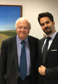 S.E Moratinos et Emile Issa