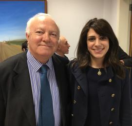 S.E Moratinos et Natasha Metni