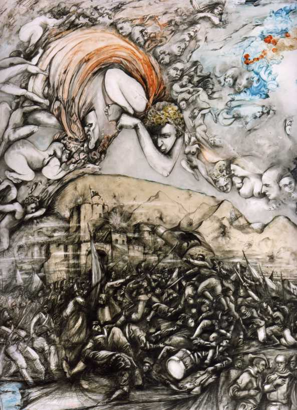 Apocalypse Painting Nostradamus Dario Poli-published random house