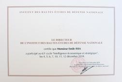 IHEDN Diplome de Fin de Cycle Dec 2018