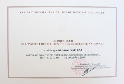 IHEDN Diplome de Fin de Cycle Dec 2018