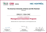AUB - HEC OSB Certificate- Emile E. Issa OMC_signed HEC_001